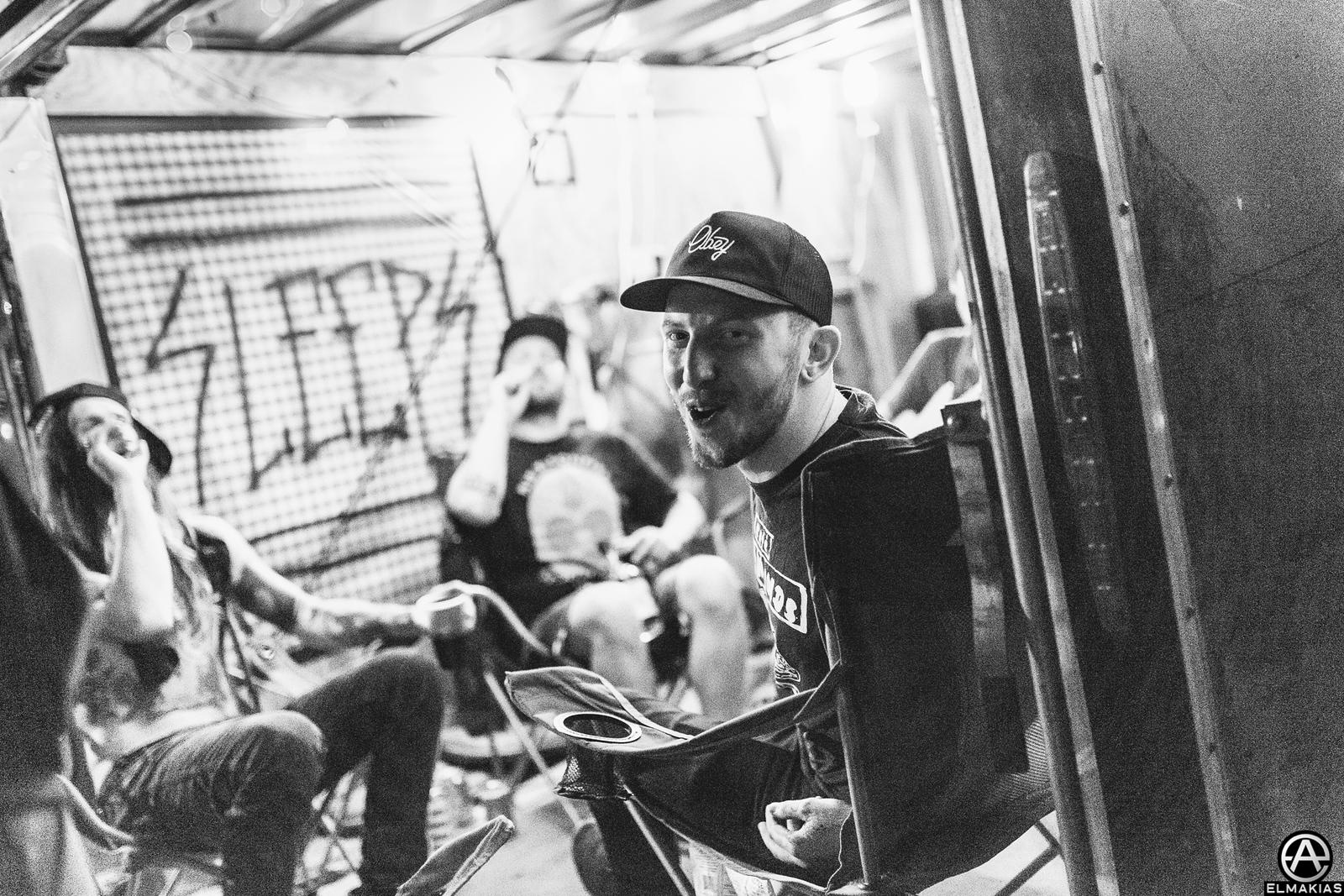While She Sleeps hangs at Vans Warped Tour 2015 by Adam Elmakias