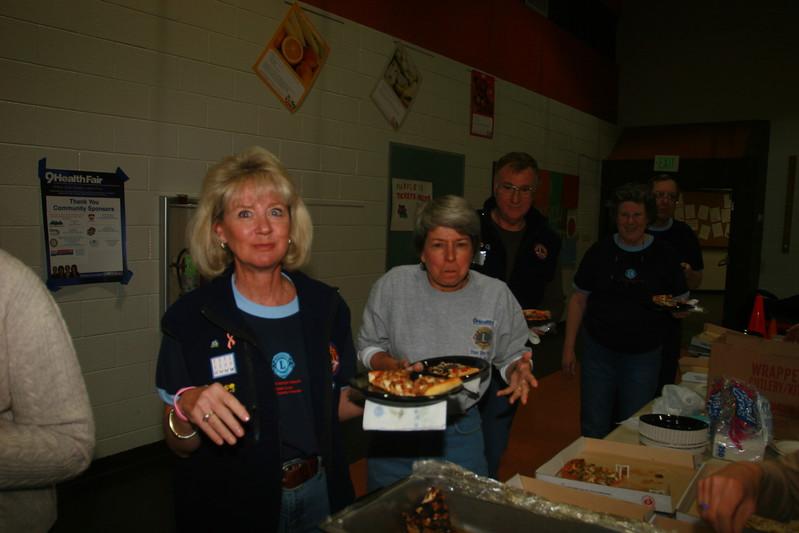 I don't think Julie and Joanneare  going to like this photo, Bill Steinmiller, Joan and Ken Vonderheiden in background.