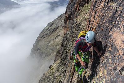 04 Saas Grund, Jagihorn Rock Climbing