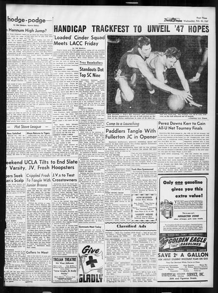 Daily Trojan, Vol. 38, No. 83, February 26, 1947