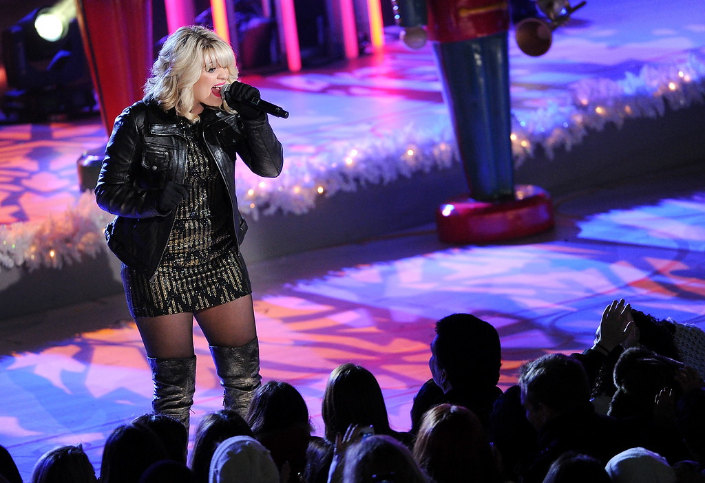 . Singer Lauren Alaina performs at the 81st annual Rockefeller Center Christmas tree lighting ceremony on Wednesday, Dec. 4, 2013 in New York. (Photo by Evan Agostini/Invision/AP)