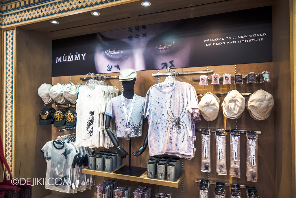 Universal Studios Singapore Park Update June 2017 - Carter's Curosities THE MUMMY 2017 merchandise