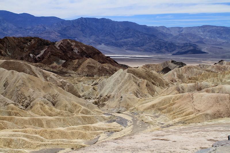 Badwater Basin across the range