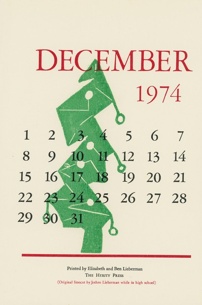 December, 1974, Herity Press