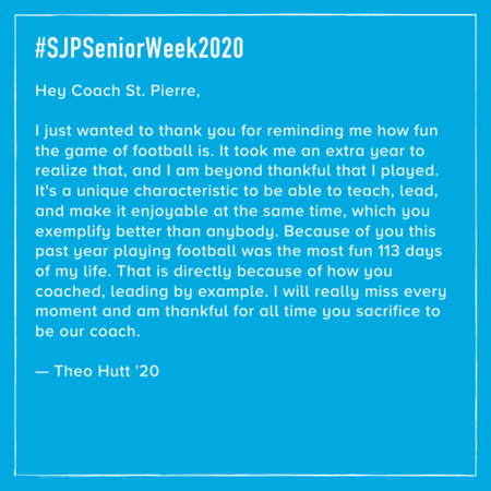 2020 Senior Week: Tribute Tuesday