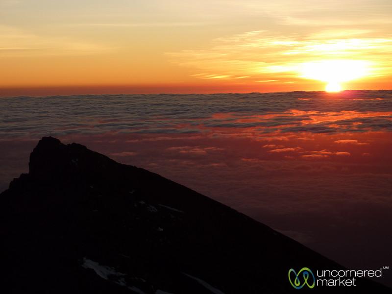 Sunrise at the Top of Mt. Kilimanjaro - Tanzania