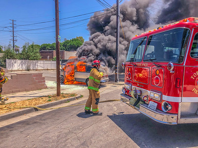 TFD Vehicle Fire at RBB and Prairie Ave    7/09/20