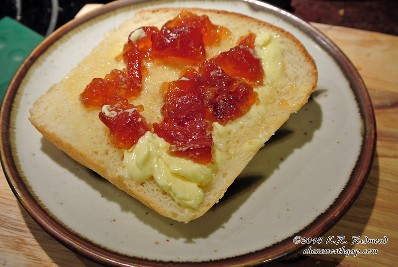Oxford Marmalade on Homemade Bread