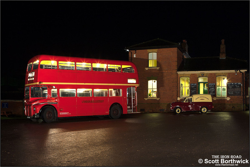 London Bus Company Routemaster RM1996 awaits passengers outside North Weald station on 25/01/2014.