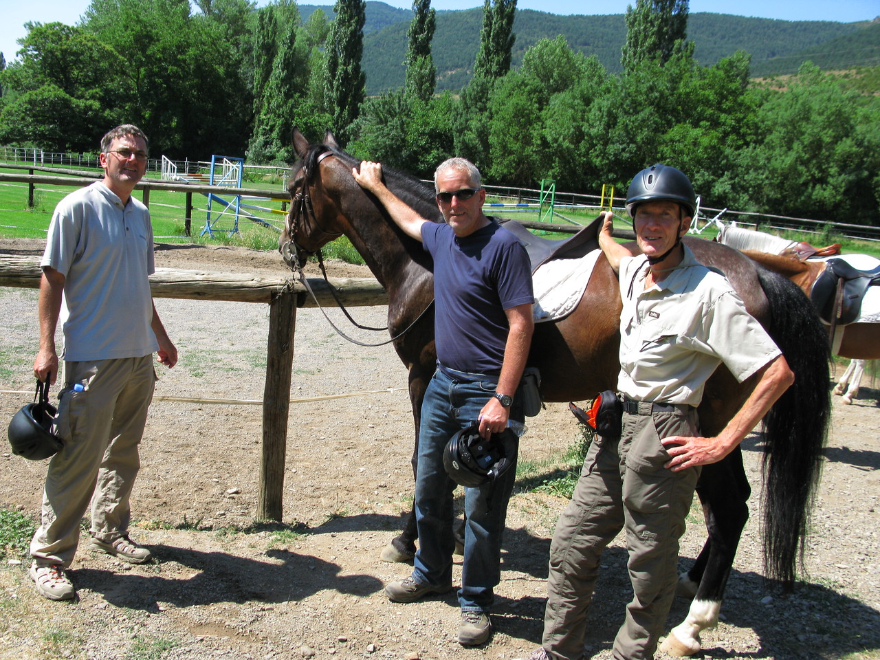 Gareth, Edward and Vic after an adventurous 2 hour mountain horse trek