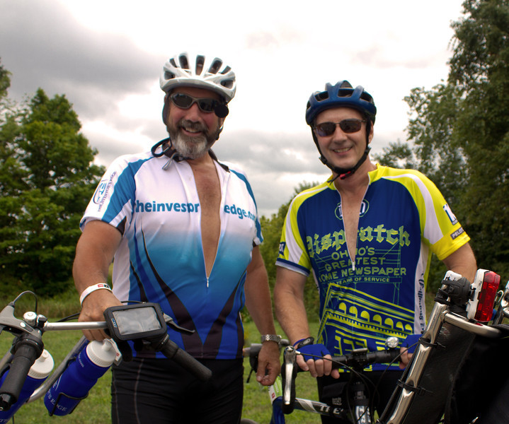 Pelotonia 12 - 180 mile ride to raise money to end cancer. Granville stop with my long time friend and riding buddy JB.
