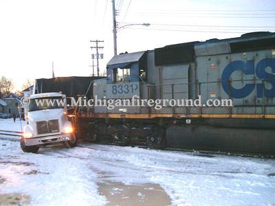 1/21/05 - Lansing train vs semi crash, Hosmer & Euclid