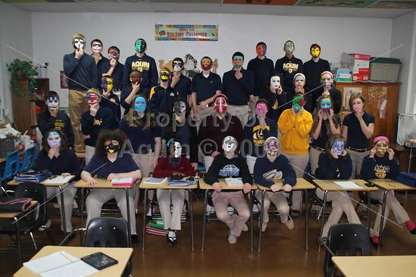 8th grade masks . 4.30.14