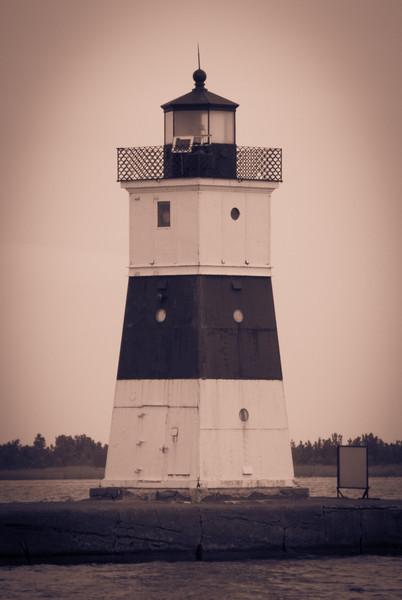 Erie Light on north breakwall