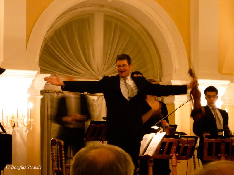 Concert-meister is very happy