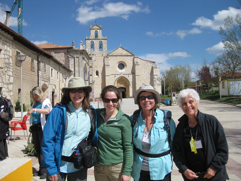 Susan Gatto, Johanna Frymoyer, Barbara Pinaire, and Liz Tilton, setting out from San Juan de Ortego - Johanna Frymoyer *12