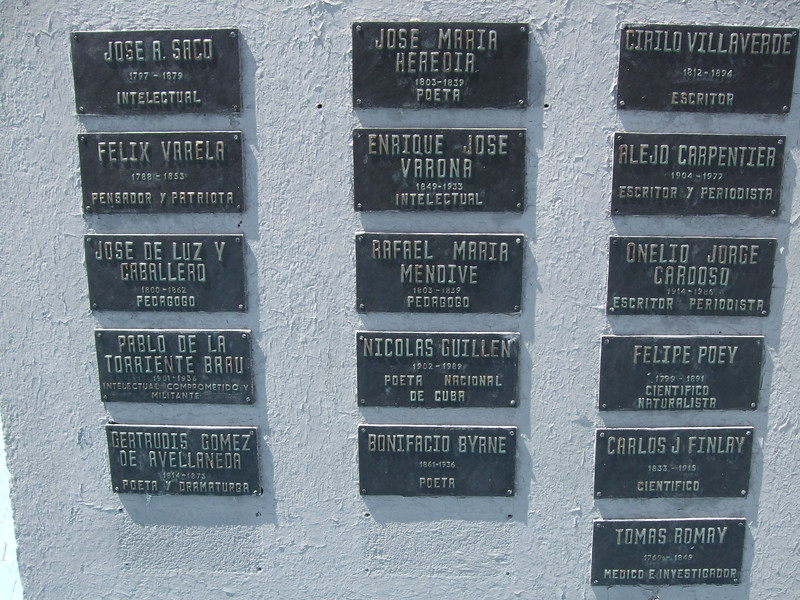 Plaques honoring Latin intellectuals - Sandy Kirkpatrick