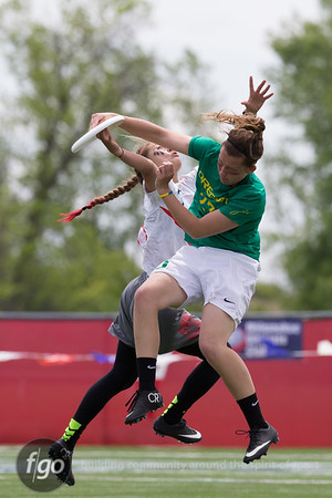 5-25-15 USA Ultimate D1 College Championships - Women's Divison Finals - Oregon Fugue v Stanford Superfly