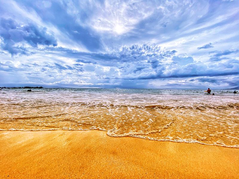 The Kihei Beach in Kihei, Maui