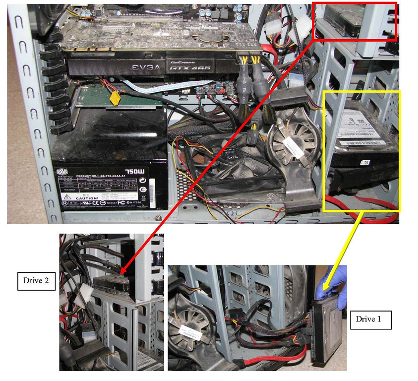 . The inside of a computer tower found in Austin Sigg\'s home. Sigg admitted to watching violent child pornography for years. Sigg kidnapped and killed 10-year-old Jessica Ridgeway at his home on Oct. 5, 2012. Provided by Jefferson County District Attorney\'s Office