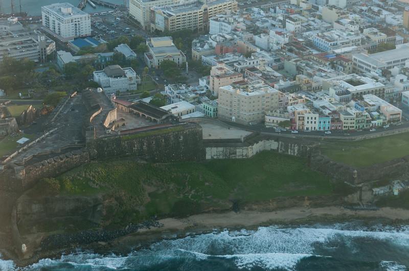 Aerial view of Castillo San Felipe del Morro in Puerto Rico