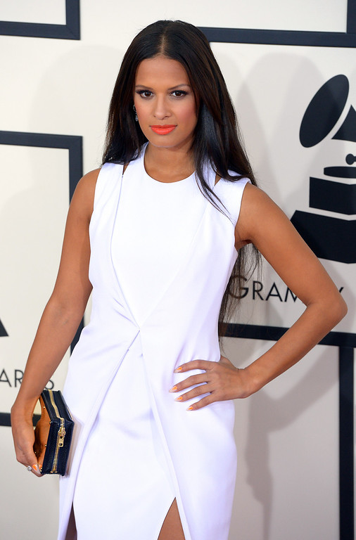 . Rocsi Diaz arrives at the 56th Annual GRAMMY Awards at Staples Center in Los Angeles, California on Sunday January 26, 2014 (Photo by David Crane / Los Angeles Daily News)