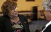 Paula Allen McCardell talks with Louise Clark.