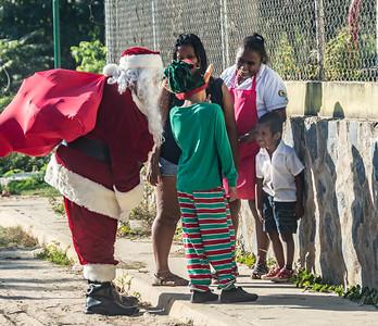 Santa's visit to kinders