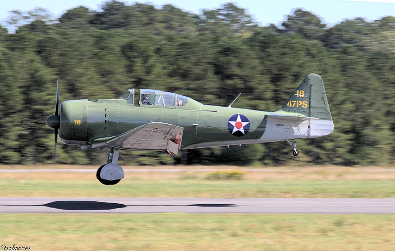 North American SNJ-6 Texan s/n 121-43036 N9820C  Rome GA 10/12/2018 This work is licensed under a Creative Commons Attribution- NonCommercial 4.0 International License.