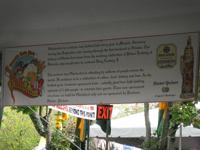 Story of Oktoberfest banner.