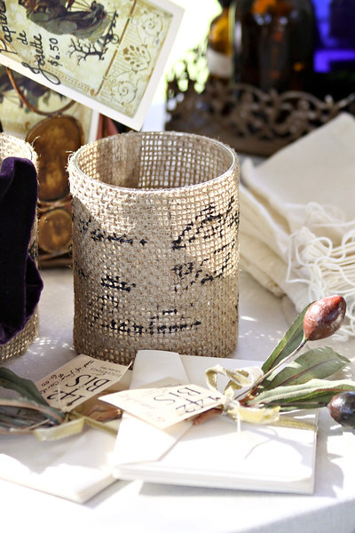 Burlap and Stationery