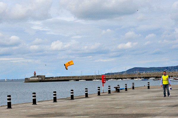 RNLI Welly Throwing on the Pier