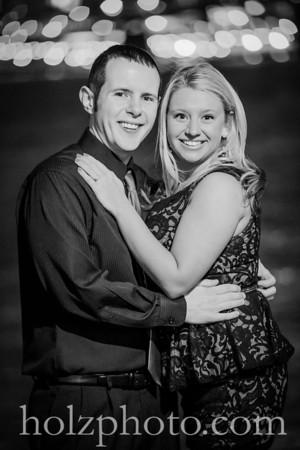 Heather & Phil B/W Engagement Photos