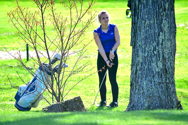 4/23/2019 Mike Orazzi | Staff St. Paul's Sarah Richardson at the Westwoods Golf Course on Tuesday.