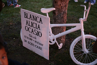 Ghost Bike Memorial Blanca Ocasio