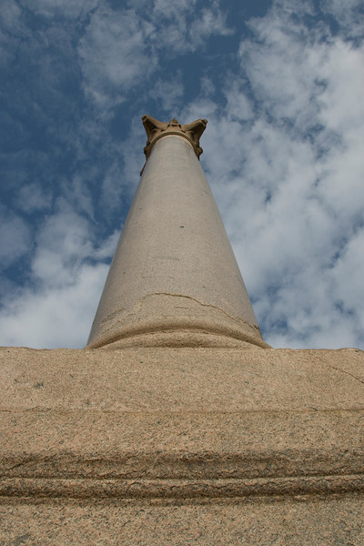 Looking up the Pompey's Pillar - Alexandria, Egypt