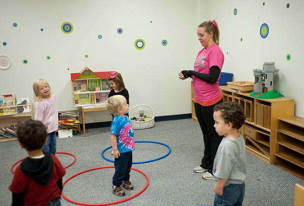 PE Students at ISU Child Care Center