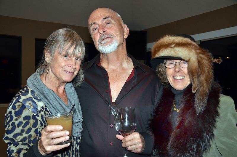 Marissa & Lorenzo Carlisle, left and center;  Eva Strauss-Rosen, right - Sheila Ash birthday party