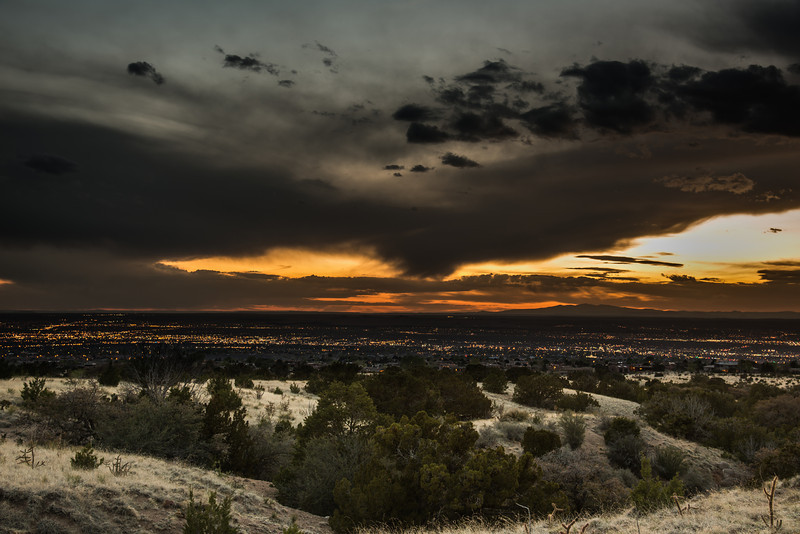 24-120 at 48 mm,  F/8, 2.5 seconds, ISO 100. Shadows at 80 in LR4 to bring up the foreground.