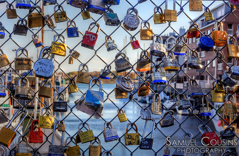 The Love Locks on Commercial St.