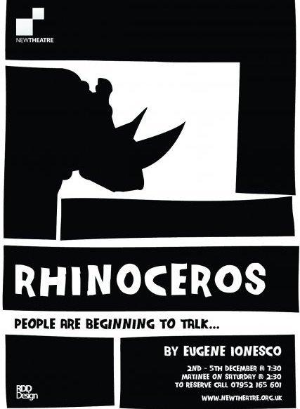 Rhinoceros poster