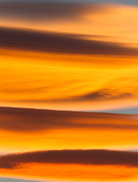 Burning Clouds Over Canyonlands National Park