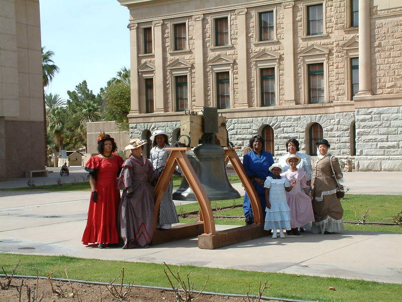 The Ladies of the Regiment of the Buffalo Soldiers of the Arizona Territory, Mesa, AZ.  March 5, 2011