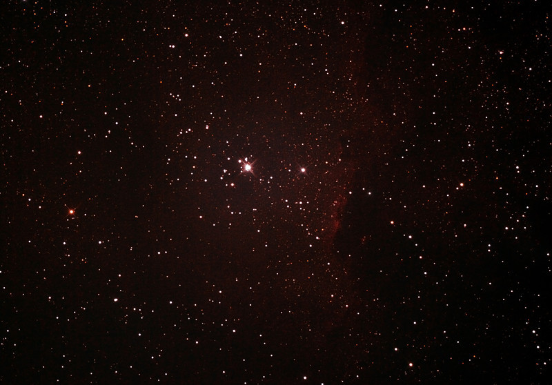 NGC6193 Open Cluster and NGC6188 - Gum 53 -Nebula in Ara - 18/7/2012 (Processed cropped stack)