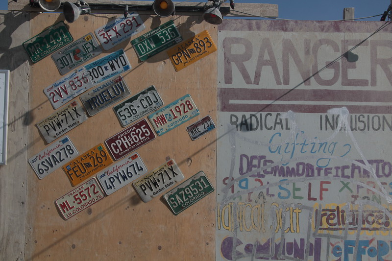 License plate art project at Ranger Outpost Berlin
