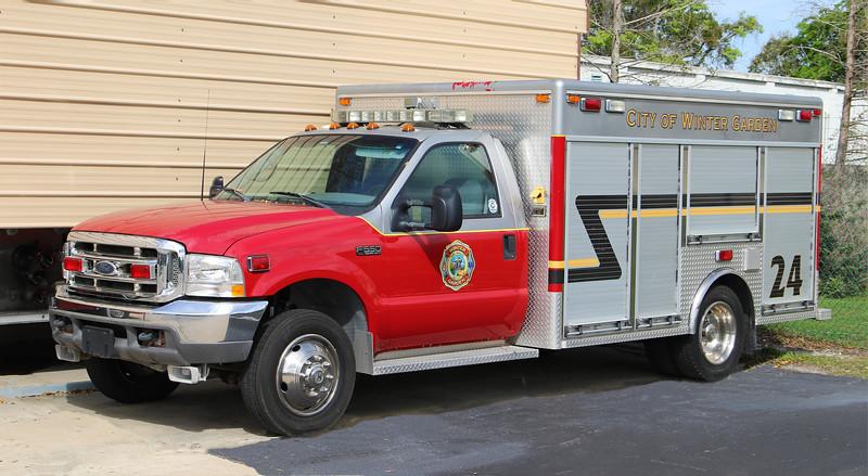Rescue 24.  2002 Ford F-550 / EVI