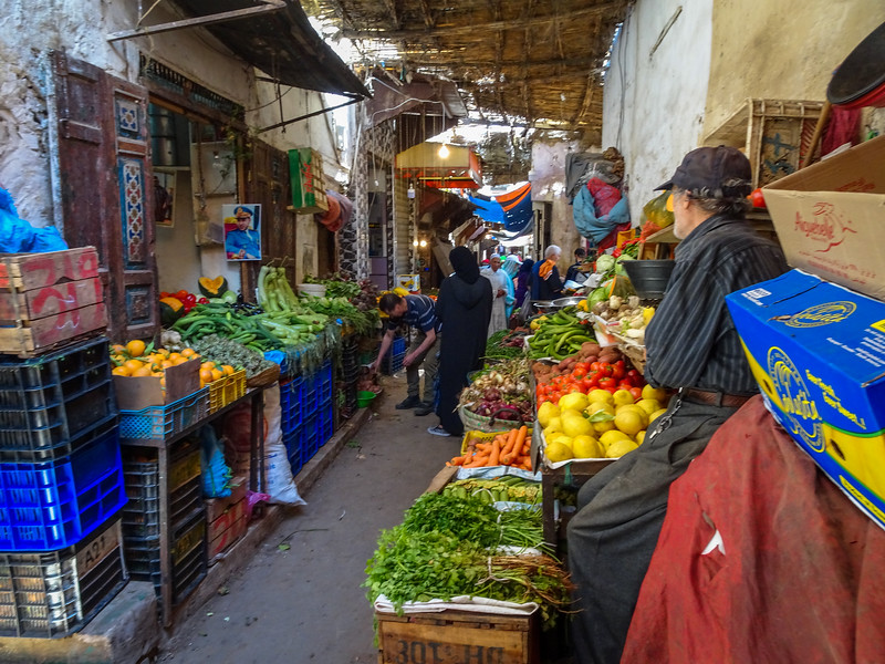 Bright colors in the souks of Fes