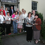 Women's Aid Coffee morning competition winners are pictured recieving their prizes from Eilen Murphy Manager Newry Womens Aid. 07W18N5