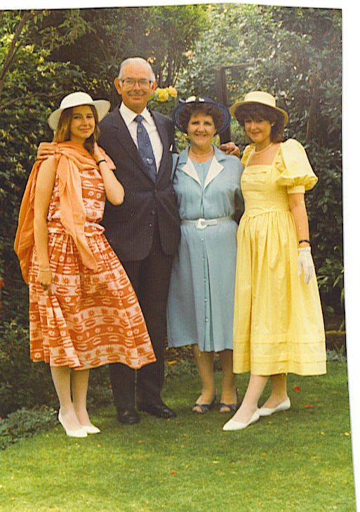 Gill, Bruce, Alice and Julia at the Queens garden party, Buckingham Palace.