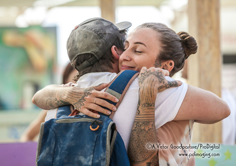 Hugs. The force that keeps Burning Man a community.